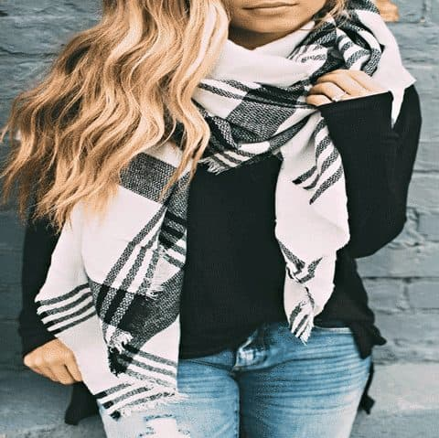 More than 15 Different Ways to Wear a Blanket Scarf | Stylorita