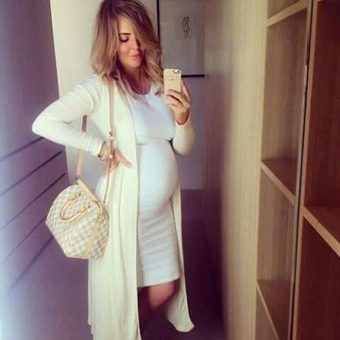 hot stylish dress for a pregnant woman