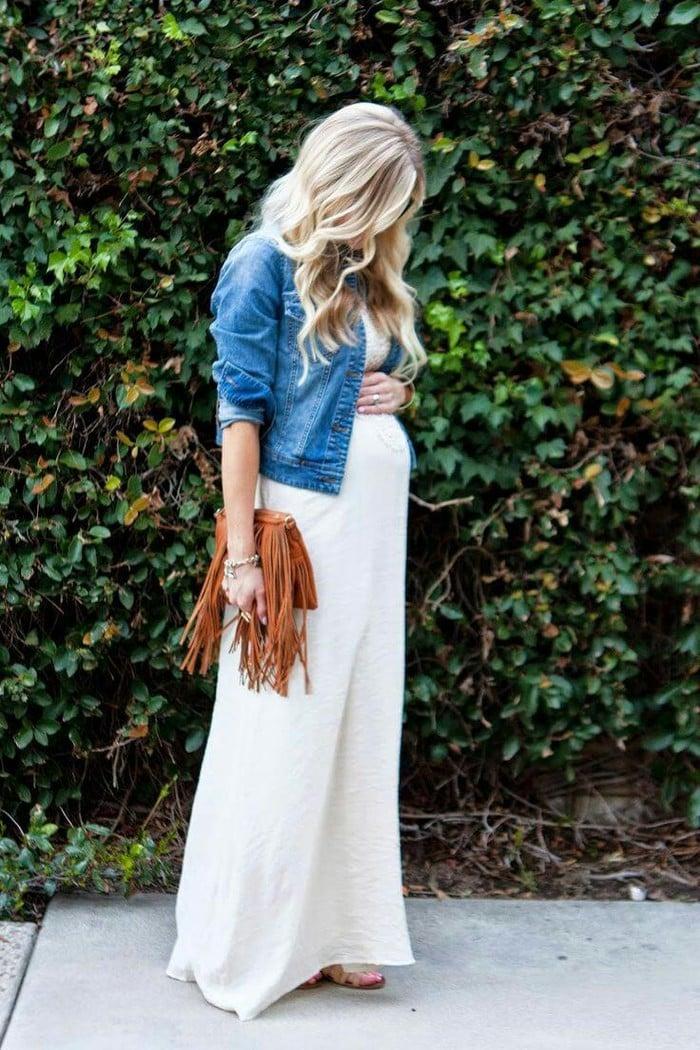 dress for a pregnant woman - white dress that fits pregnant