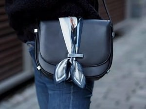 How to tie scarf on your purse